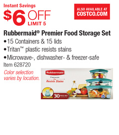 costco deal rubbermaid premier food storage set 6 off. Black Bedroom Furniture Sets. Home Design Ideas