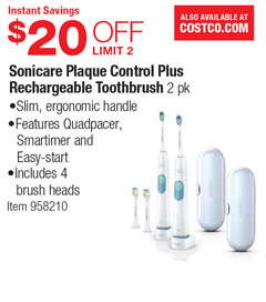 Philips Sonicare Protective Clean Platinum Handle Pack Whitens teeth in just 1 week Safe and gentle on sensitive areas, orthodontics and dental work.