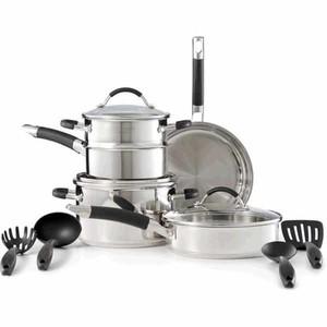 Kohl 39 s deal cuisinart home cuisine 12 pc stainless - Cuisinart home cuisine ...