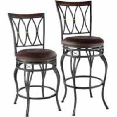 Lowes Deal - allen + roth Hannah Dark Champagne Bronze Stool - Now $48