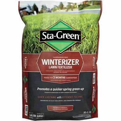 Lowes deal sta green 5000 sq ft winterizer lawn fertilizer now for Sta green garden soil