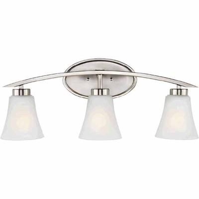 Lowes Deal Portfolio Lyndsay 3 Light Brushed Nickel Bathroom Vanity Light Now 59