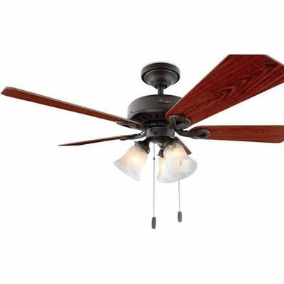 Black Hunter Ceiling Fan Lowes Deal - Hunter 44-in Ridgefield or Harbor Breeze 52 ...