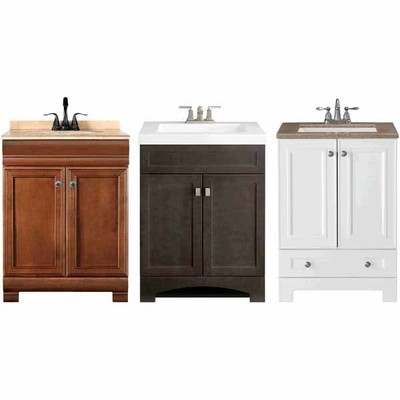 Style Selections 24-1/2-in Windell Auburn Bathroom Vanity with Top -