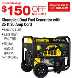 costco deal ch ion dual fuel generator 150 off Tractor Supply Generators ch ion dual fuel generator