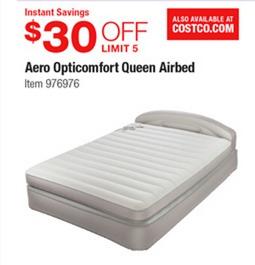Store Ads Online >> Costco Deal - AeroBed Opti-Comfort Queen Airbed - $30 off