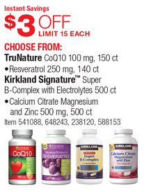 Costco Deal Choose From Trunature Coq10 100 Mg 150 Ct 3 Off