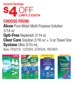 Listing All Cars >> Costco Deal - Alcon Pure Moist Multi-Purpose Solution 2/14 oz - $4 OFF