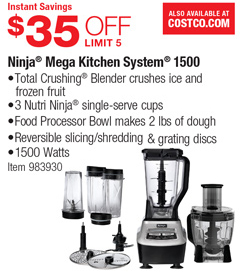 costco deal ninja mega kitchen system 1500 35 off rh mystore411 com ninja kitchen system 1500 accessories ninja kitchen system 1500 watt