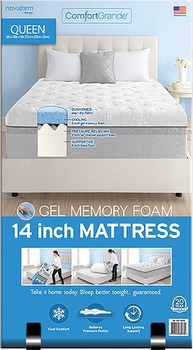 novaform 14 comfort grande queen gel memory foam mattress. novaform 14\ 14 comfort grande queen gel memory foam mattress o