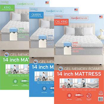 Novaform 14 comfort grande cal-king gel-memory foam mattress