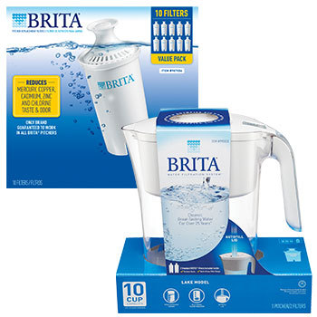 Costco Deal - Brita Lake 10-Cup Water Pitcher + 2 Filters AND/OR