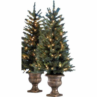 Lowes Deal Ge 2 Pack 4 Ft Cambridge Pine Pre Lit