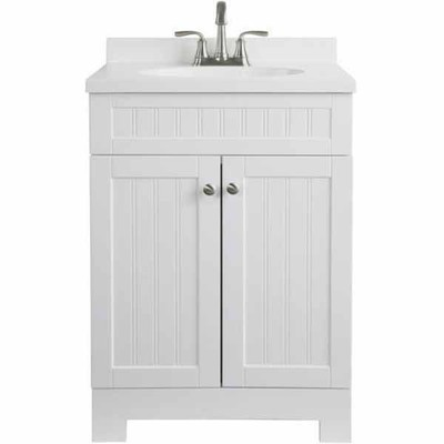 style selections 2412in ellenbee white bathroom vanity with top