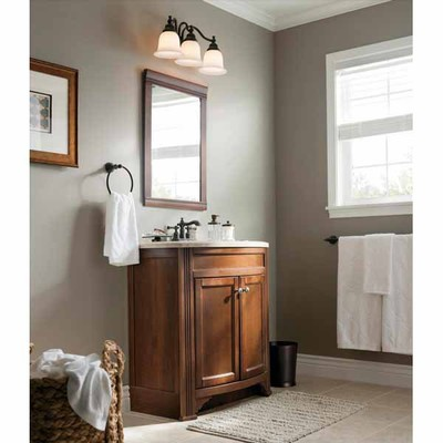 Bathroom Vanity Lighting Oil Rubbed Bronze lowes deal - portfolio brandy chase 3-light oil-rubbed bronze