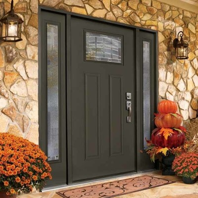 Delightful In Stock Emerson Craftsman 1 Lite Decorative Fiberglass Entry Door Fits  36 In