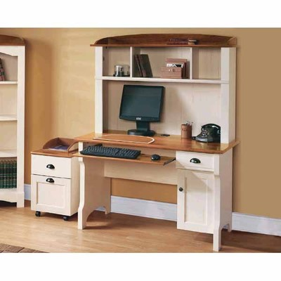 Officemax Deal Realspace Shore Computer Desk With Hutch