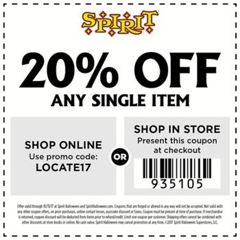 featured local deal spirit halloween coupons deals - Nj Halloween Stores